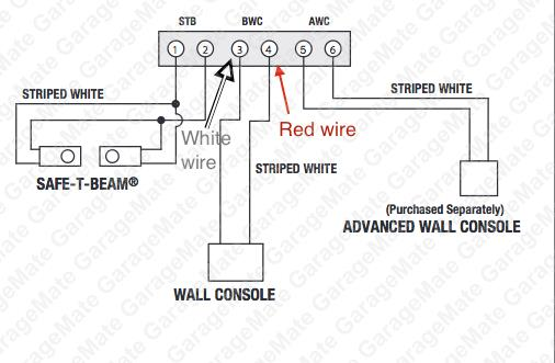 genie new wm genie garage door wiring diagram garage door sensor wiring garage door opener wiring installation at creativeand.co